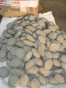 готовые брикеты из карбида кремния